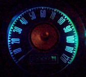 MP-66-LED-GA-AQA - NEW DESIGN - Color matched to the original vintage! Finally see your gauges at night with cool running lifetime LEDs 3-4X brighter than the old incandescent lamps! For the 65-66 Mustangs with 5 gauge cluster.
