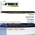 nFORCE® Interior Lightbar Rear Single color 9 LED