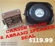 CARSON HA Stutter Horn 100 Watt With Speaker Bundle