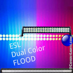NEW Dual Color FLOOD Emergency Scene Light DUAL Row