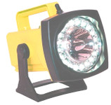 Rechargeable Spot/Flood LED Hand-Held Flashlight-Yellow-Charger-AC