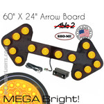 "MEGA Bright LED Large Arrow Board  60""x24"""