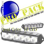 PRO Pack 12 Fusion Surface Mount Lights 12LED Dual Color