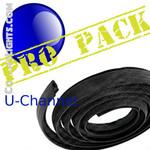 Pro Pack 36 feet of Black Rubber U Channel
