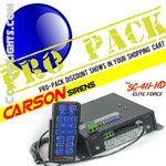 PRO Pack 12 Carson SC-411-HD Elite Force Siren 200W Dual Tone