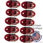 10 Pack TecNiq Red S21 Clearance Marker Lights S21