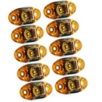10 Pack TecNiq AMBER S21 Clearance Marker Lights S21