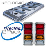 K60-0C40-1 TecNiq K60 - Quad Bezels set of 2