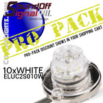 PRO Pack SoundOFF Universal Under Cover Hideaways WHITE 10 count