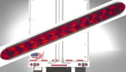 TecNiq Red HI Mount Center Brake Turn ID Bar 11 LED