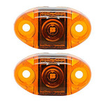 2 Pack TecNiq AMBER S21 Clearance Marker Lights S21