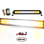 SHO-ME LED EMERGENCY SCENE LIGHT White Center with AMBER Flashing ends