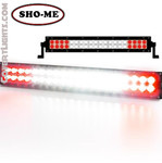 SHO-ME LED EMERGENCY SCENE LIGHT White Center with Red Flashing ends