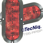 "T66-RRSP-1 TecNiq  2Pack STT 6"" Oval Red Surface Flange Mount"