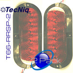 """T66-RRSP-1 TecNiq  2Pack STT 6"""" Oval Red Surface Flange Mount"""