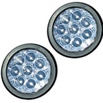"""T46-WC0T-01 TecNiq 2 Pack  T46 4"""" Round HI Visibility TriPole with Grommet"""