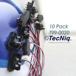 T99-0020-1  TecNiq 90degree Tri Pole Wire set 10pack