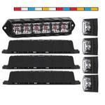 4 Pack Dual Color Feniex Fusion Surface Mount Lights