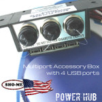 POWER HUB Sho-Me Multi-Port Accessory Box 14.0553.USB