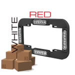 RED-WHITE LICENSE PLATE BRACKET SET