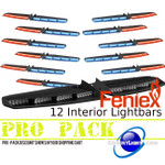 PRO PACK 12 Feniex Interior Single Color Light Bars