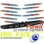 PRO PACK 12 Feniex Interior Single Color Light Bars
