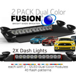 2 Pack Deal FENIEX Fusion 2X Dash Light Dual color