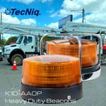 K10-AA0P-1  TECNiq K10 AMBER Public Safety BEACONS