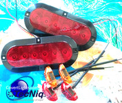 Submersible LED Trailer Light kit, Stop Turn Tail, Utility, RV, Campers,  Surface Mount
