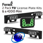SPECIAL 2 Feniex T3 License Plate Kits & 4200 MINI  Limited Time OFFER
