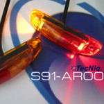 S91-AR00-1 TecNiq Red/Amber Sidemarker Lights 2 Pack