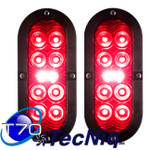 "T70-RWSP-1  2pack TecNiq 6"" Oval Stop Tail TURN with REVERSE Light"