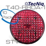 "10 pack T40-RR0A-1 TecNiq STT RED 4"" Rounds  no grommet"
