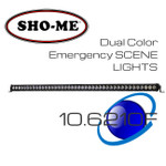 "44"" 210W ESL Emergency Scene Lightbar Dual Color Covert KIT"