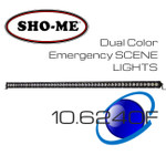"50"" 240W ESL Emergency Scene Lightbar Dual Color Covert KIT"