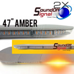 "2X SERIES 47"" Amber Lightbar from SoundOFF Signal"