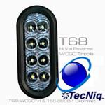 """T68-WCG0T-1 TecNiq 6"""" oval High Vis Reverse Tripole grommet mount"""