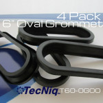 """T60-0G00 TecNiq 6"""" grommet 4 pack"""