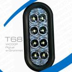 """T68-WCG0P-1 TecNiq 6"""" oval High Vis Reverse Pigtail grommet mount"""