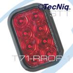 T71-RR0P-1 TecNiq T71 RED STT Retangular 8 Led 5x3