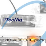 S18 TecNiq Amber Clear lens sidemarker Submersible 10 pack