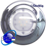 "E20-WC0B-1 Interior light White/BLUE Dome 6"" Chrome TECNIQ"