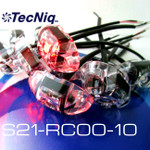 S21-RC00-1 TecNiq 10 Pack RED Clear Lens S21 Clearance Marker Lights