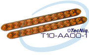 "T10-AA00-1 2 pack Amber 15"" Turn TecNiq"
