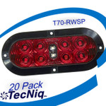 "20 pack  T70-RWSP-1 TecNiq 6"" Oval Stop Tail TURN with REVERSE Light"