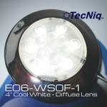 """E06-WS0F-1 TecNiq Silho-X 4"""" Round Cool White Light with Diffuse Lens"""