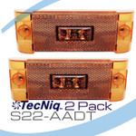 2 Pack S22-AADP-1 TecNiq PC Rated Side Marker Midship