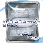 K60-ACA0-1 TecNiq 2 Pack AMBER Arrow AutoSYNC Clear Lens MASK