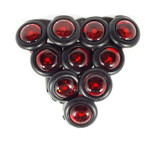 S34-RR9B-1  10 pack Sidemarker Red with Red Lens w/.180 bullet ends