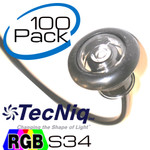 100 Pack S34 RGB Mini Clear Lens Lights by TecNiq NEW